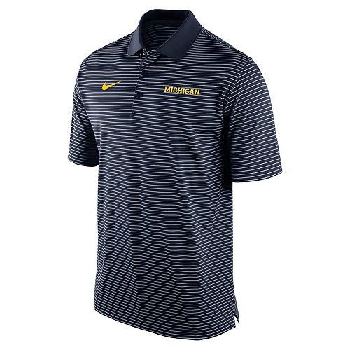 Men's Nike Michigan Wolverines Striped Stadium Dri-FIT Performance Polo