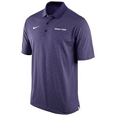 Men's Nike TCU Horned Frogs Striped Stadium Dri-FIT Performance Polo