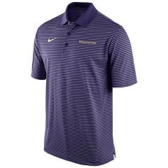 Men's Nike Washington Huskies Striped Stadium Dri-FIT Performance Polo