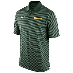 Men's Nike Baylor Bears Striped Stadium Dri-FIT Performance Polo