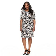 Plus Size Dana Buchman Faux Wrap Dress