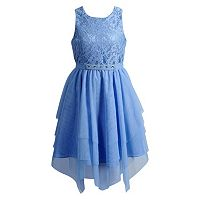 Girls 7-16 & Plus Size Emily West Tulle Sharkbite Hem Dress