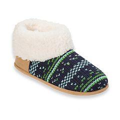 Women's Dearfoams Patterned Knit Slippers