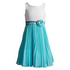Girls 7-16 & Plus Size Pleated Dress