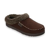 Men's Dearfoams Microfiber Whipstitch Wide-Width Moccasin Slippers