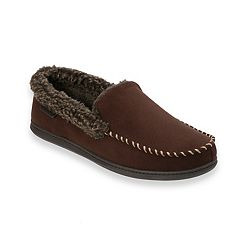 Men's Dearfoams Microfiber Whipstitch Wide-Width Clog Slippers