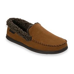 Men's Dearfoams Microfiber Whipstitch Moccasin Slippers