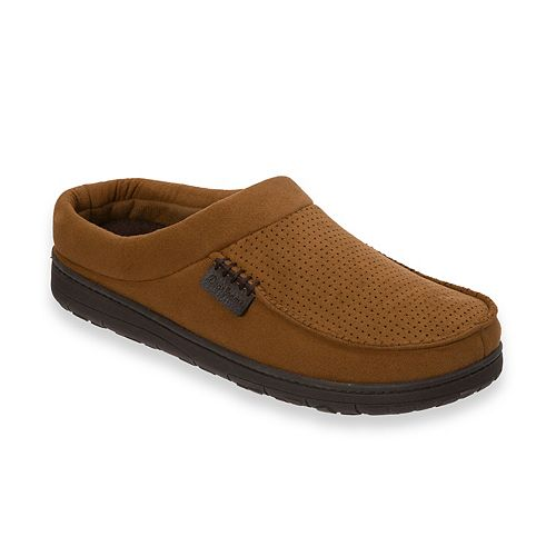 a76a1913136 Men s Dearfoams Perforated Microfiber Clog Slippers