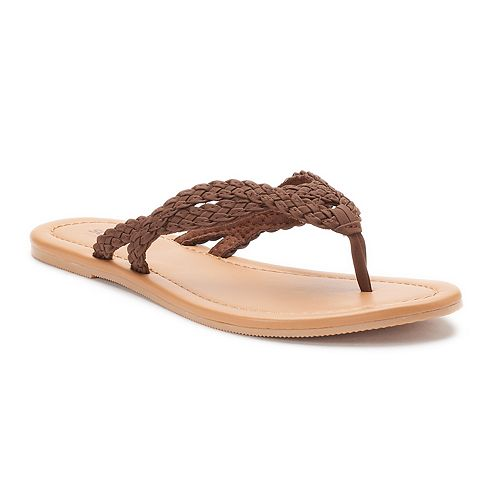 Women's SONOMA Goods for Life™ Braided Thong Sandals
