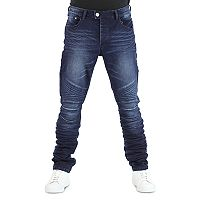 Men's True Luck Bloome Moto Slim-Fit Jeans
