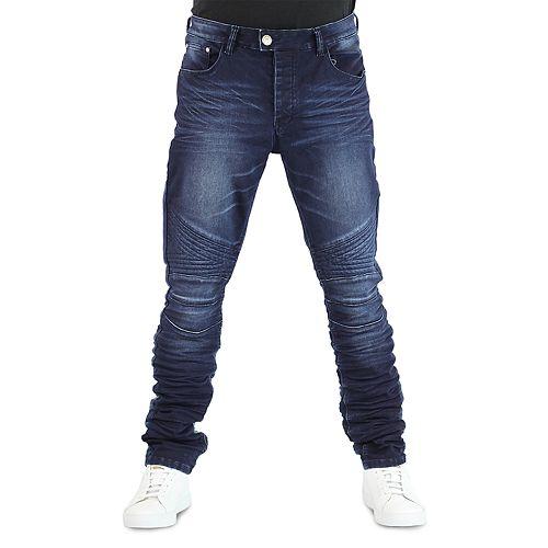 Men's True Luck Bloome Moto Slim-Fit Jeans