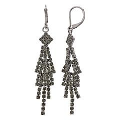 Simply Vera Vera Wang Gray Simulated Crystal Chandelier Earrings