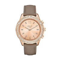 Relic Women's Eliza Connected Hybrid Crystal Leather Smart Watch - ZRT1005