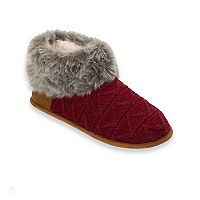 Women's Dearfoams Pile Cuff Textured Knit Slippers
