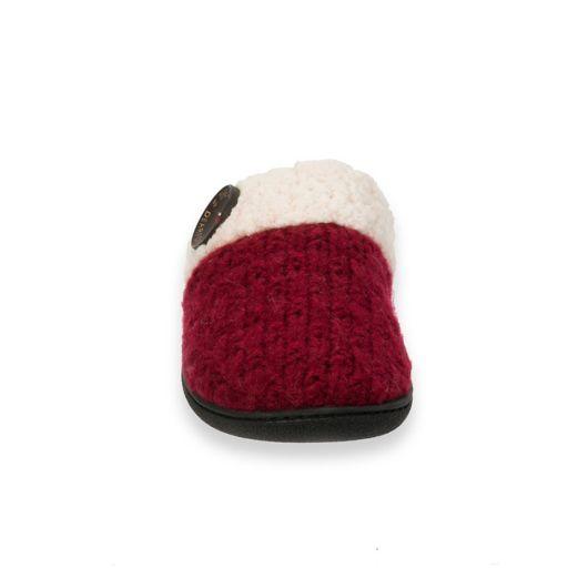 Women's Dearfoams Textured Knit Closed Toe Scuff Slippers