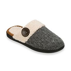 Women's Dearfoams Textured Knit Closed Toe Scuff Slippers