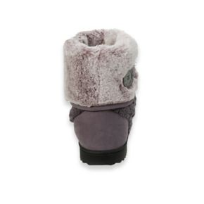 Women's Dearfoams Cable Knit Boot with Plush Cuff