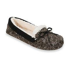 Women's Dearfoams Knit Moccasin Slippers