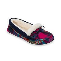 Women's Dearfoams Knit Moccasin Slippers