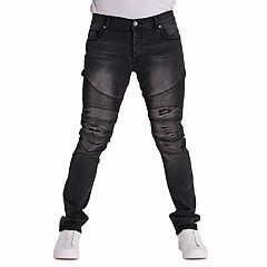 Men's True Luck Judge Moto Slim-Fit Jeans