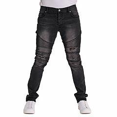 Men's True Luck Judge Moto Slim-Fit Jeans