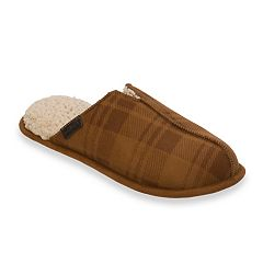 Men's Dearfoams Plaid Microfiber Scuff Slippers