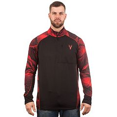 Men's Huntworth Colorblock Camouflage Performance Fleece Quarter-Zip Pullover