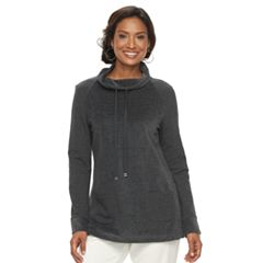 Women's Croft & Barrow® Funnel Neck Tunic Sweatshirt