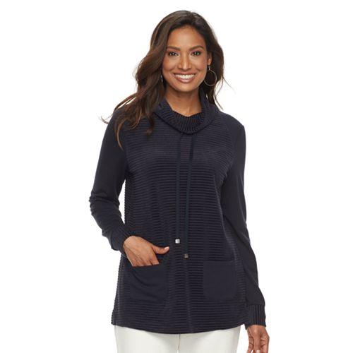 Women's Croft & Barrow® Funnel Neck Tunic Sweatshirt