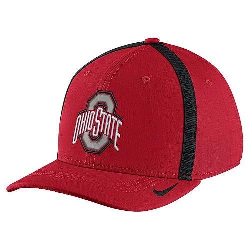 Adult Nike Ohio State Buckeyes Aerobill Sideline Cap