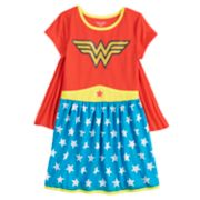 Girls 4-10 DC Comics Wonder Woman Dorm Nightgown with Cape