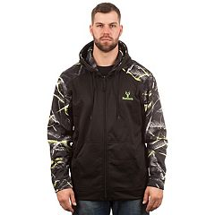 Men's Huntworth Camo Colorblock Performance Stretch Fleece Hooded Jacket