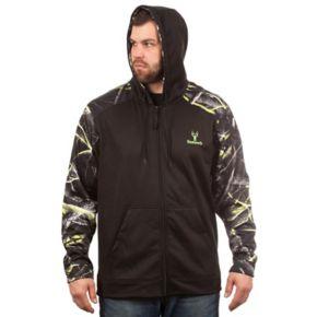 Men's Huntworth Camo Colorblock Performance Stretch Fleece Hooded Jacket