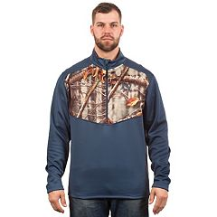 Men's Huntworth Camo Colorblock Performance Stretch Half-Zip Pullover