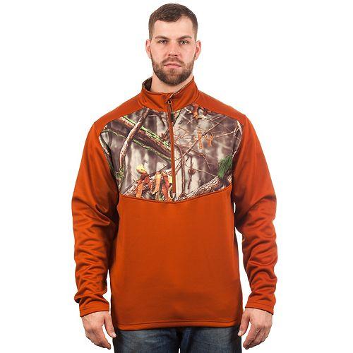 Men's Huntworth Camo Colorblock Performance Stretch Half-Zip Pullover