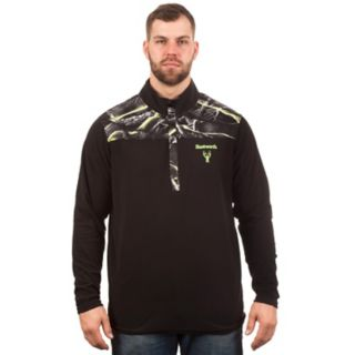 Men's Huntworth Camo Colorblock Henley Pullover