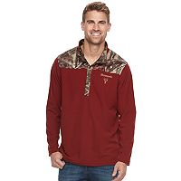 Men's Huntworth Camo Colorblock Lightweight Quarter-Zip Pullover