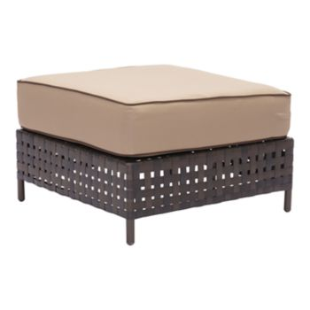 Zuo Modern Pinery Basketweave Patio Ottoman