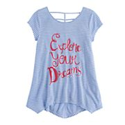Girls 7-16 & Plus Size SO® Cage-Back Printed Legging Tee