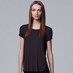 Women's Simply Vera Vera Wang Ribbed Tee