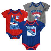 Baby New York Rangers 3-Pack Hat Trick Bodysuit Set