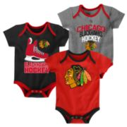 Baby Chicago Blackhawks 3-Pack Hat Trick Bodysuit Set