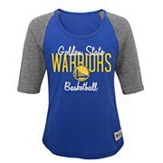 Girls 7-16 Golden State Warriors Turnover Raglan Tee