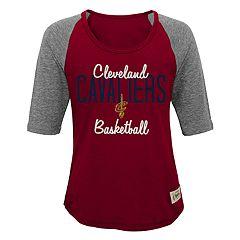Girls 7-16 Cleveland Cavaliers Turnover Raglan Tee