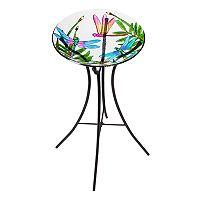 Evergreen Colorful Dragonfly Indoor / Outdoor Bird Bath
