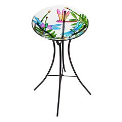 Evergreen Colorful Dragonfly Indoor / Outdoor Bird Bath