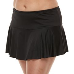 Plus Size Apt. 9® Tummy Slimmer Hipster Skirtini Bottoms