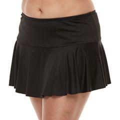 Plus Size Apt. 9® Tummy Slimmer Hipster Skirtini Bottoms