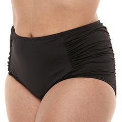Plus Size Apt. 9® Tummy Slimmer High-Waisted Bikini Bottoms