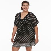 Plus Size Apt. 9® Printed Chiffon Cover-Up